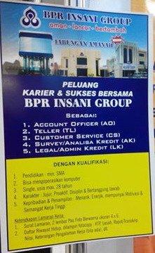 Lowongan BPR Insani Grup